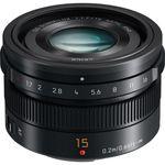 Panasonic Leica DG 15mm f/1.7 Summilux ASPH. (Black) Lens — 598€ Photo Emporiki