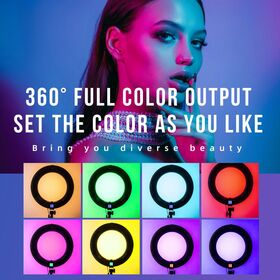 Weeylite WE-10S Dimmable 18'' RGB LED Ring Light with 17 Lighting Effects — 135€ Photo Emporiki